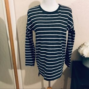 Lou and grey side zip striped sweater size S